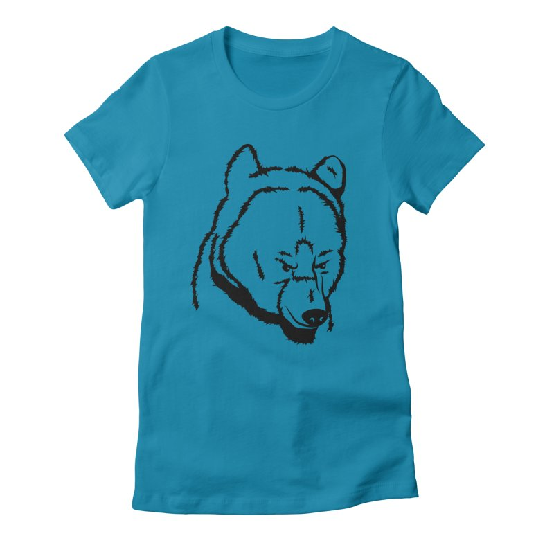 Black Bear Women's Fitted T-Shirt by Synner Design