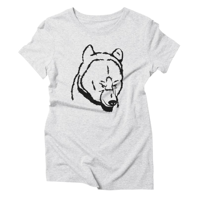 Black Bear Women's Triblend T-Shirt by Synner Design