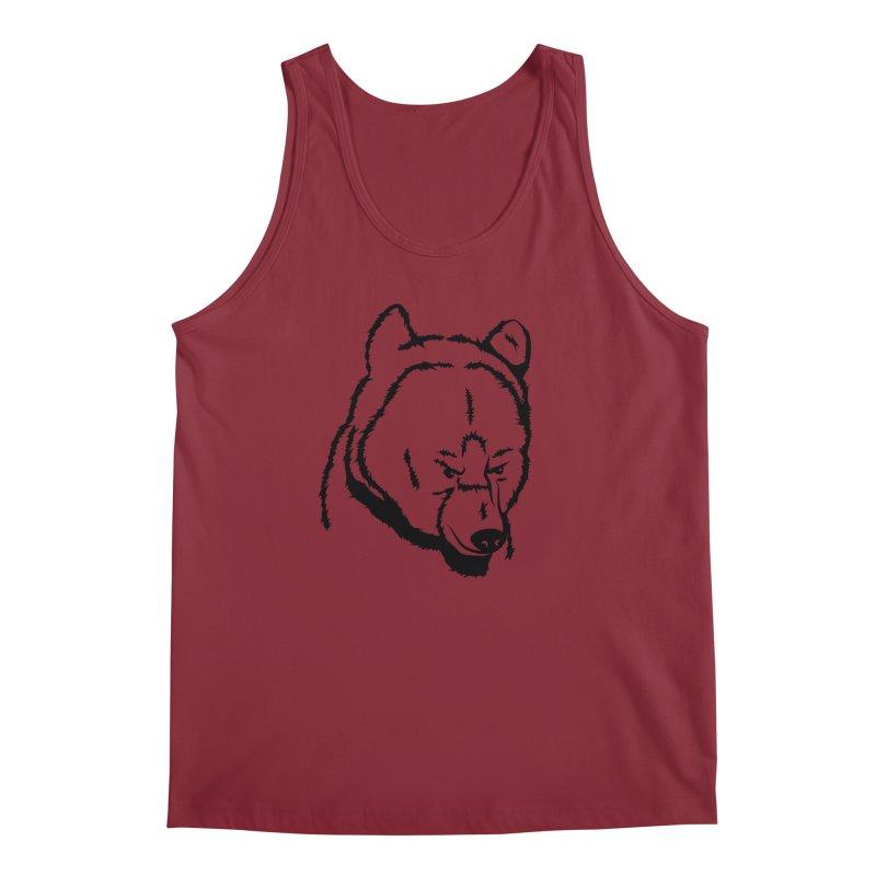 Black Bear Men's Regular Tank by Synner Design