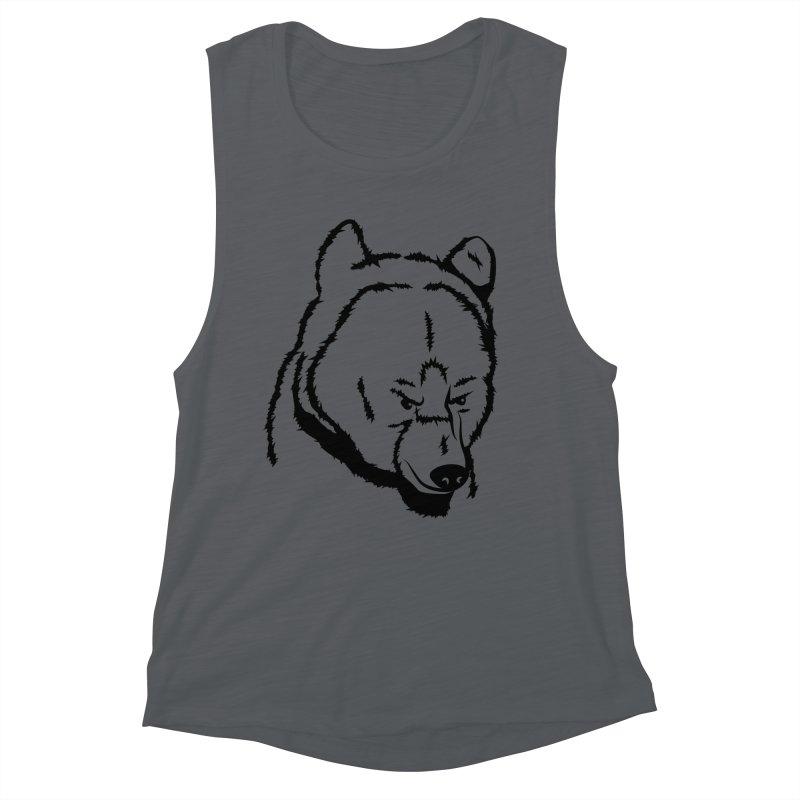 Black Bear Women's Muscle Tank by Synner Design
