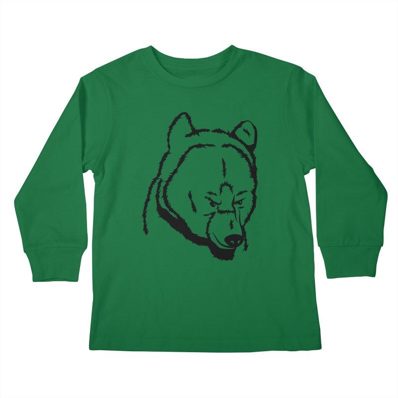 Black Bear Kids Longsleeve T-Shirt by Synner Design