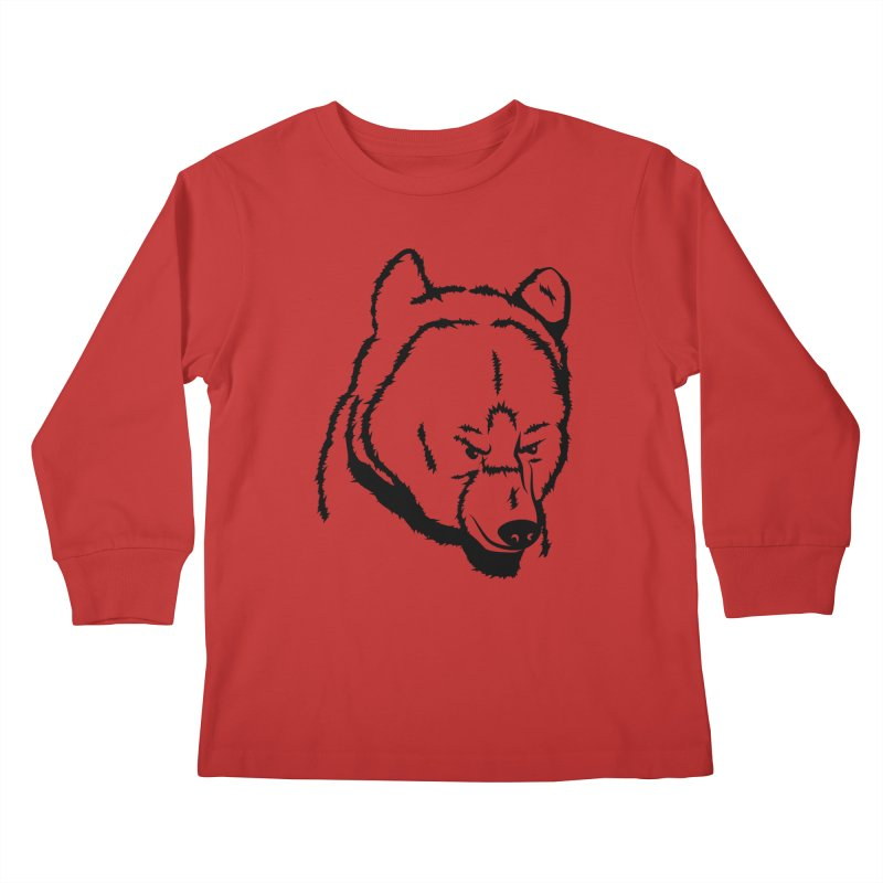 Black Bear Kids Longsleeve T-Shirt by Synner Design