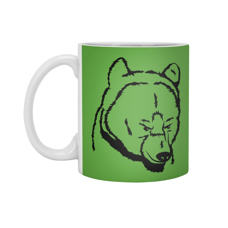 Black Bear Accessories Mug by Synner Design