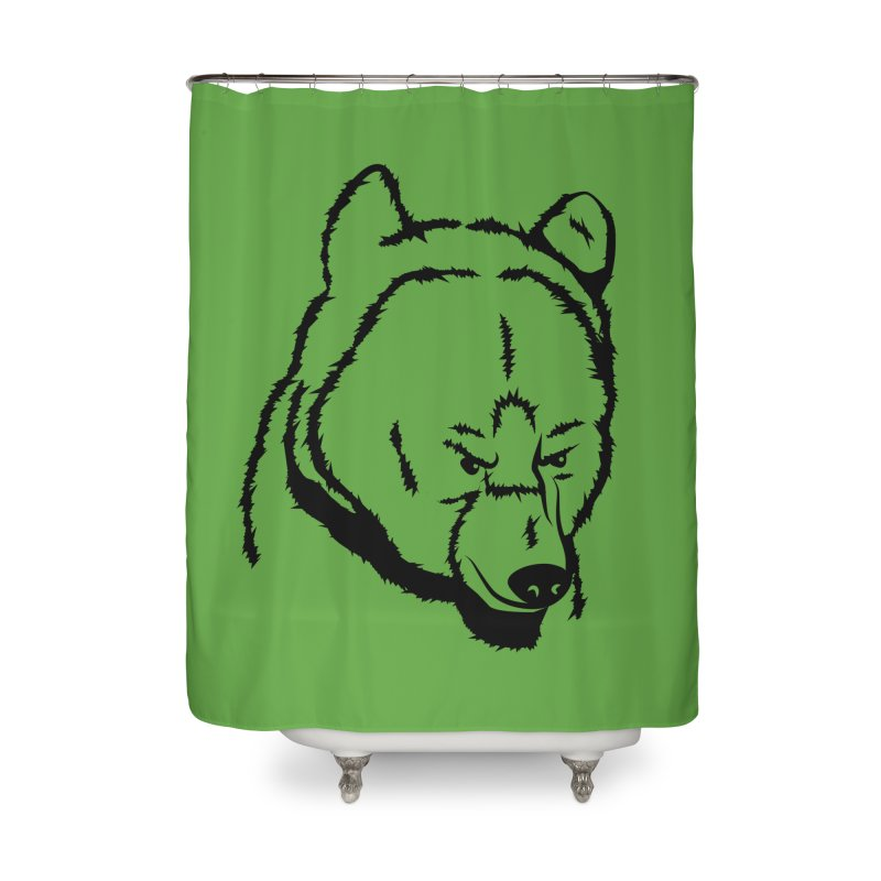 Black Bear Home Shower Curtain by Synner Design