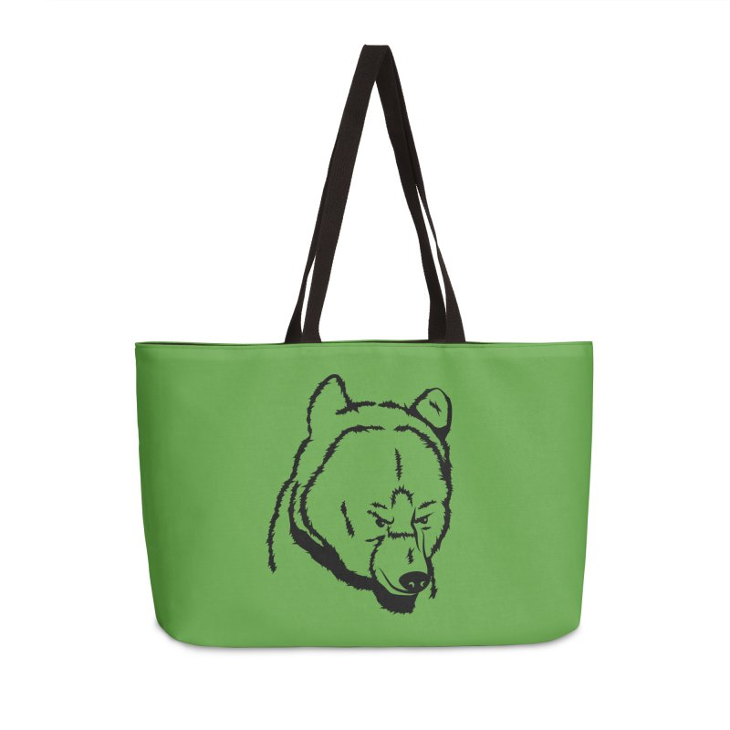 Black Bear Accessories Weekender Bag Bag by Synner Design