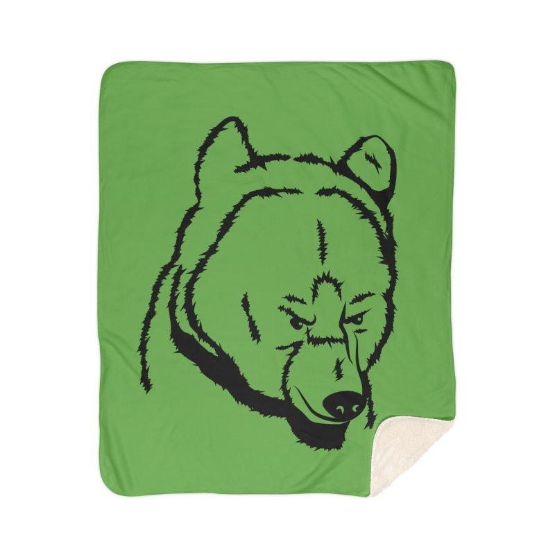 Black Bear Home Sherpa Blanket Blanket by Synner Design