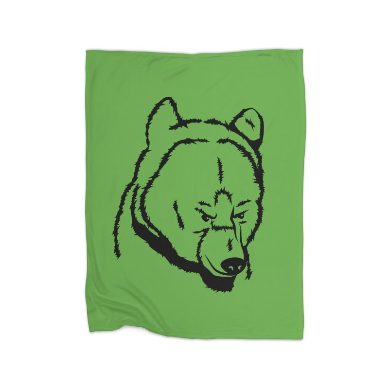 Black Bear Home Fleece Blanket Blanket by Synner Design