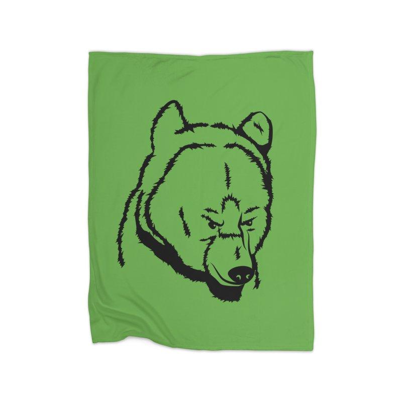 Black Bear Home Blanket by Synner Design