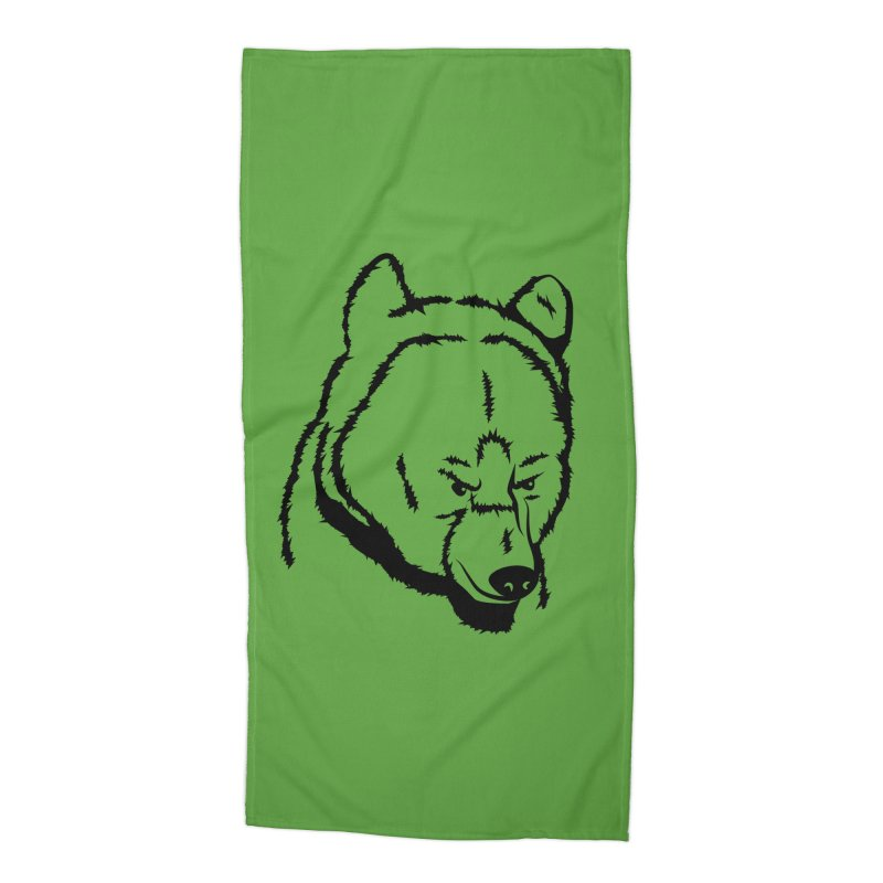 Black Bear Accessories Beach Towel by Synner Design