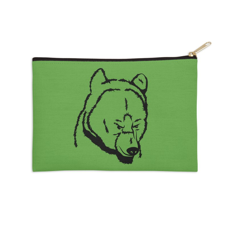 Black Bear Accessories Zip Pouch by Synner Design