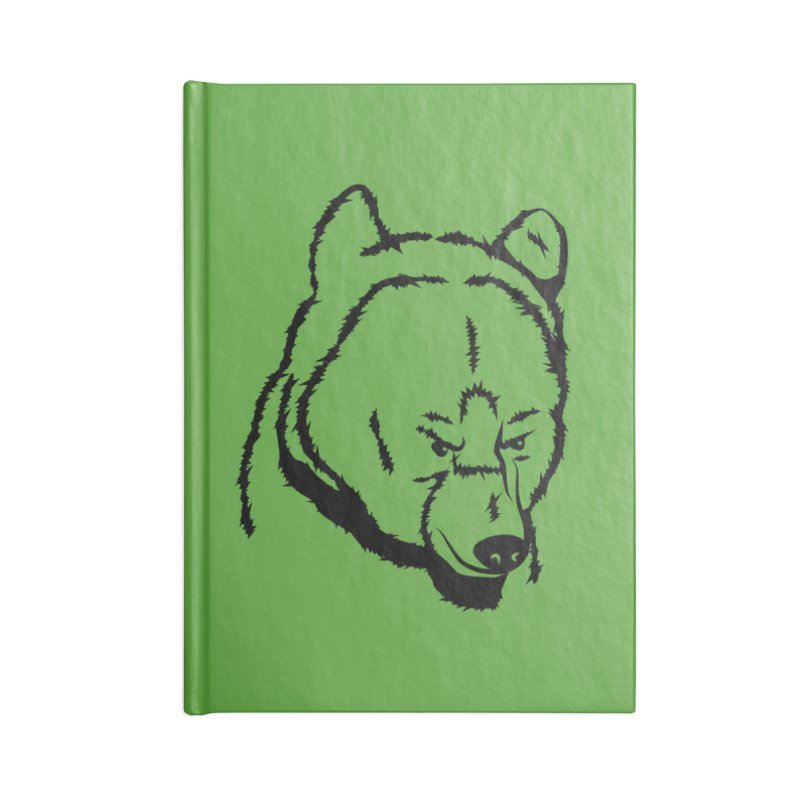Black Bear Accessories Lined Journal Notebook by Synner Design