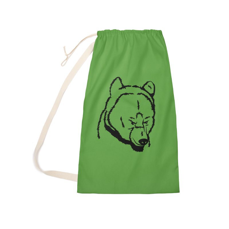 Black Bear Accessories Laundry Bag Bag by Synner Design