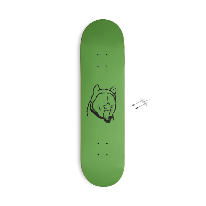 Black Bear Accessories With Hanging Hardware Skateboard by Synner Design