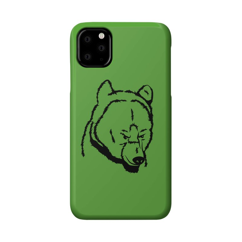 Black Bear Accessories Phone Case by Synner Design
