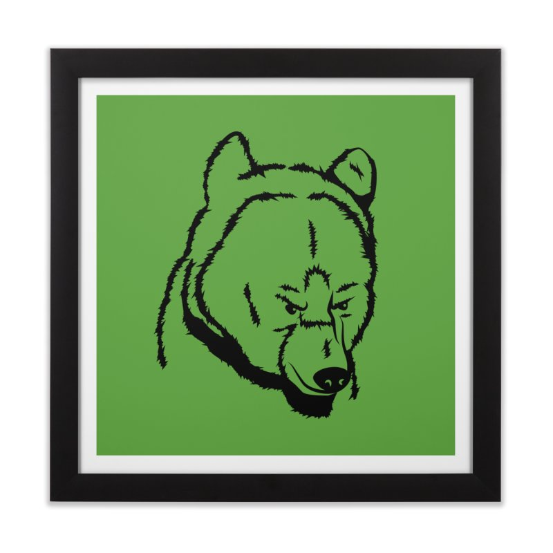 Black Bear Home Framed Fine Art Print by Synner Design