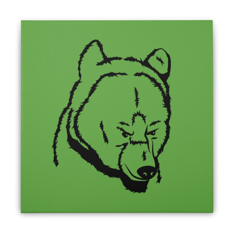Black Bear Home Stretched Canvas by Synner Design