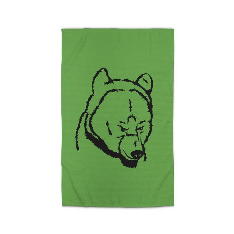 Black Bear Home Rug by Synner Design