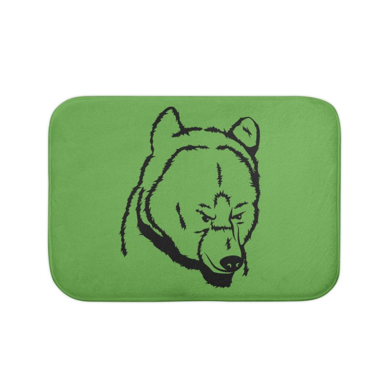 Black Bear Home Bath Mat by Synner Design