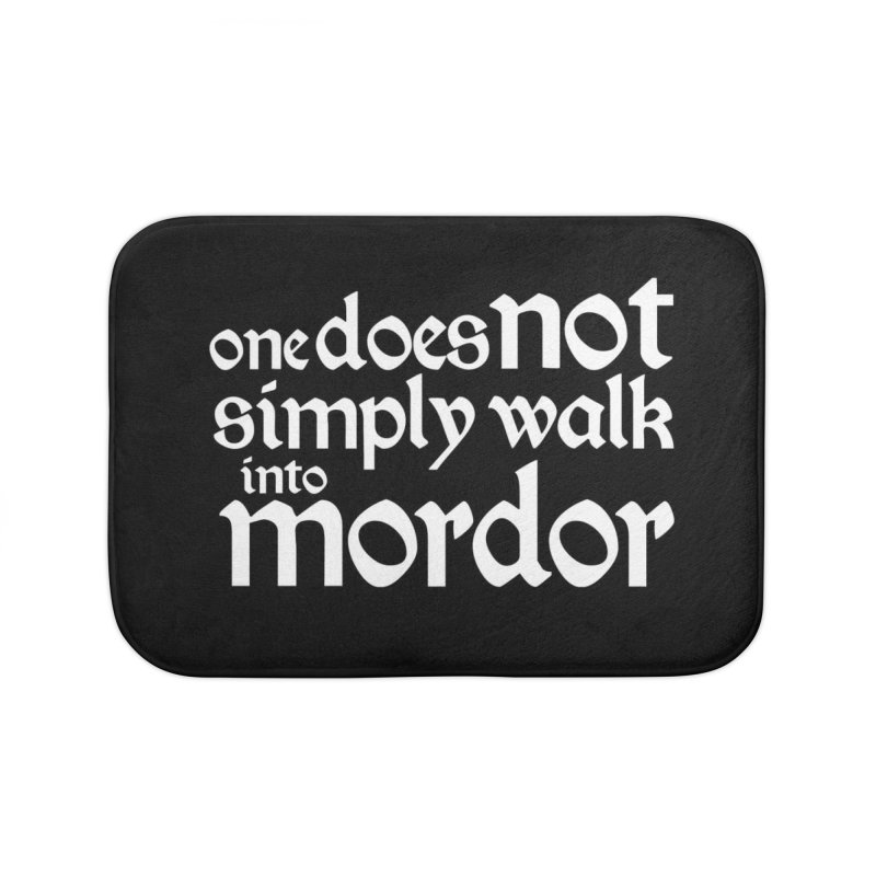 One does not simply Home Bath Mat by Synner Design