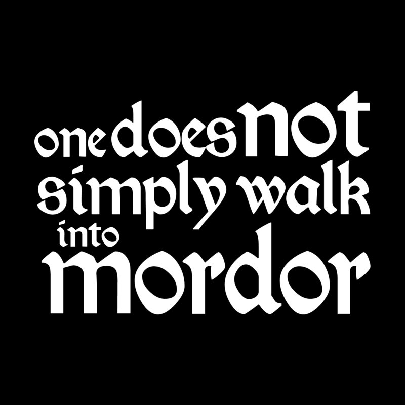 One does not simply Accessories Sticker by Synner Design
