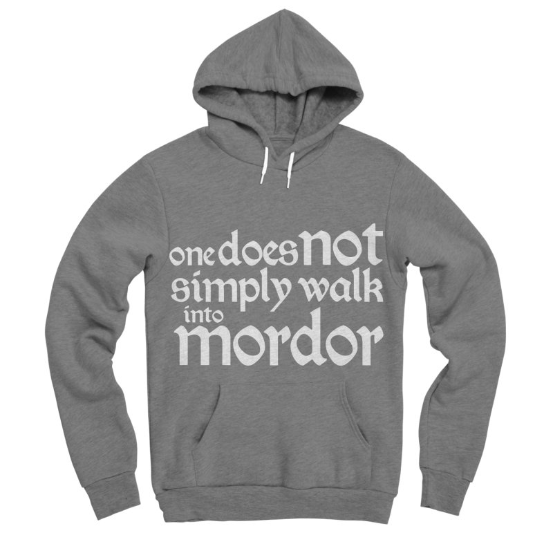 One does not simply Men's Sponge Fleece Pullover Hoody by Synner Design