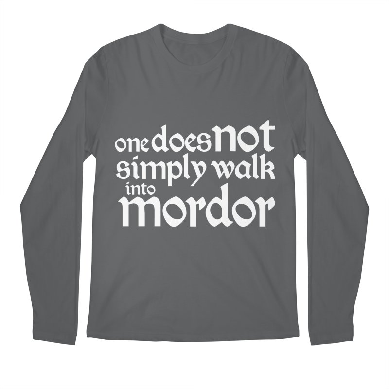 One does not simply Men's Longsleeve T-Shirt by Synner Design
