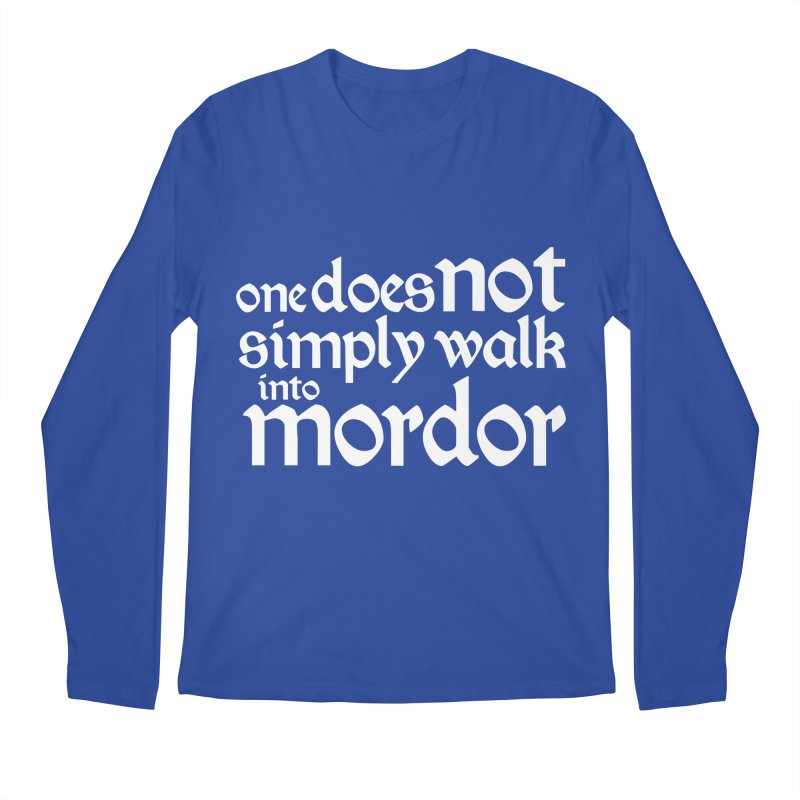 One does not simply Men's Regular Longsleeve T-Shirt by Synner Design