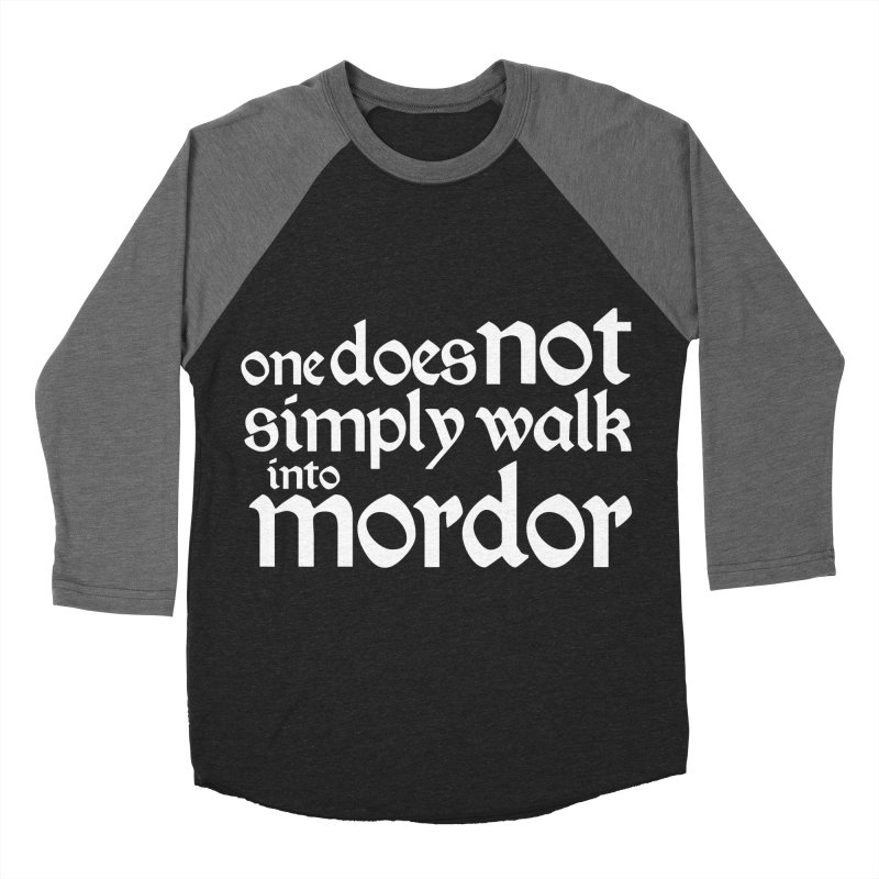 One does not simply Men's Baseball Triblend Longsleeve T-Shirt by Synner Design