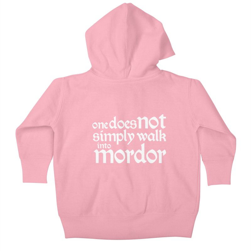 One does not simply Kids Baby Zip-Up Hoody by Synner Design