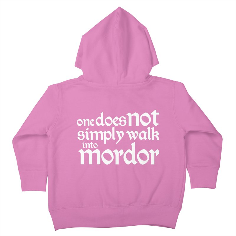 One does not simply Kids Toddler Zip-Up Hoody by Synner Design