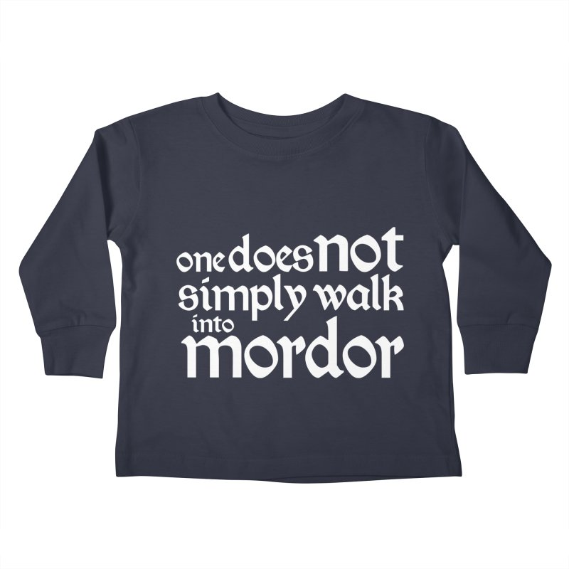 One does not simply Kids Toddler Longsleeve T-Shirt by Synner Design