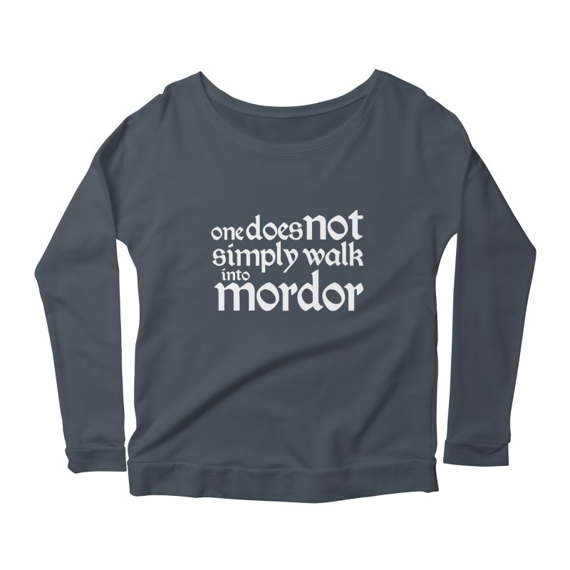 One does not simply Women's Longsleeve Scoopneck  by Synner Design