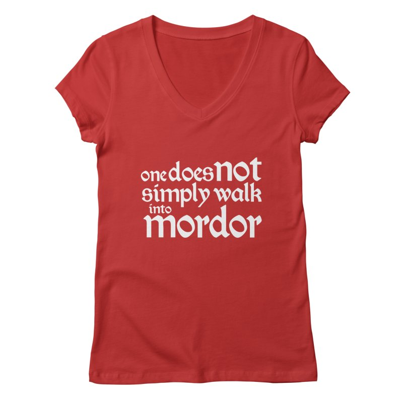 One does not simply Women's Regular V-Neck by Synner Design