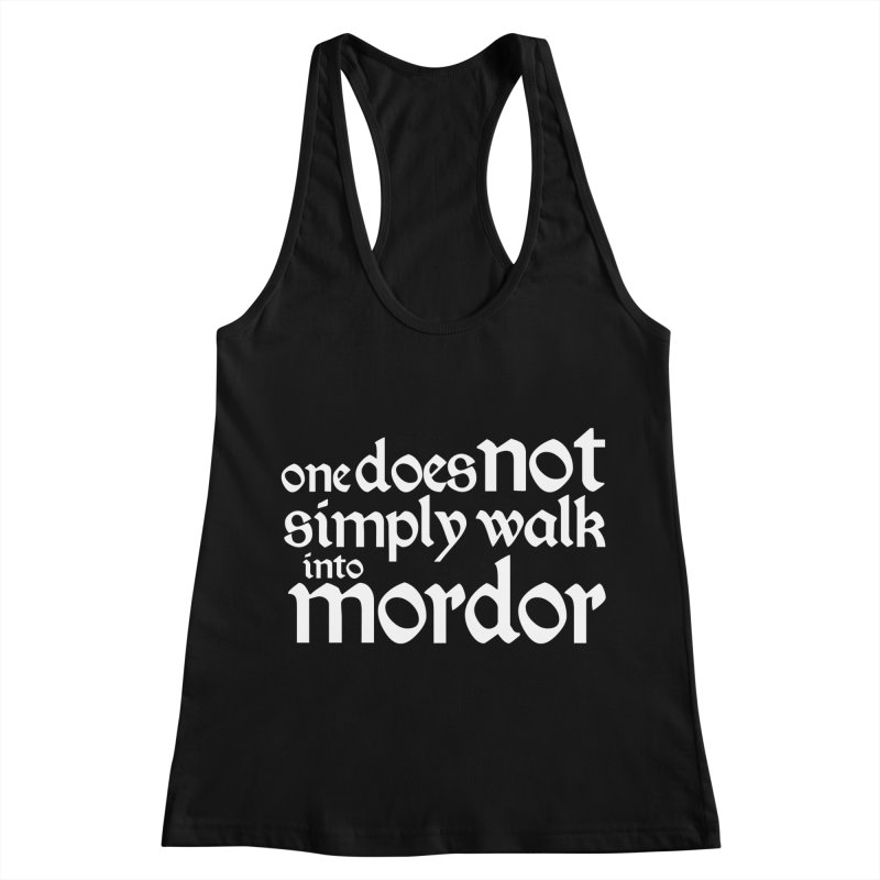 One does not simply Women's Racerback Tank by Synner Design