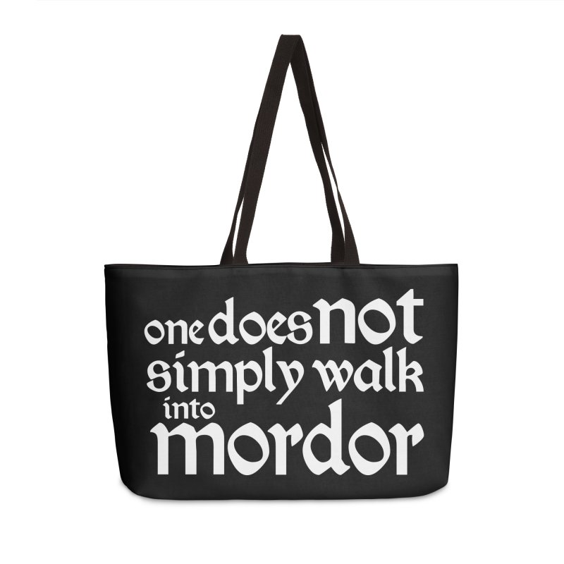 One does not simply Accessories Weekender Bag Bag by Synner Design
