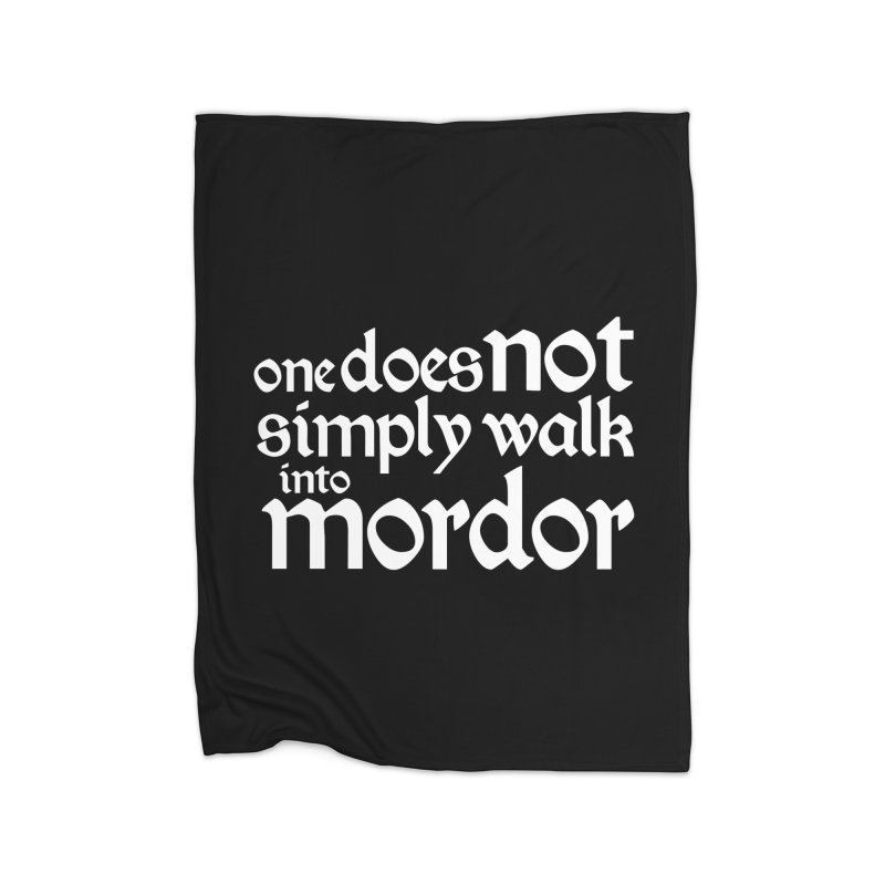 One does not simply Home Fleece Blanket Blanket by Synner Design