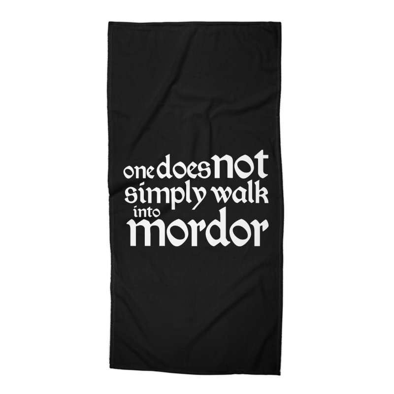 One does not simply Accessories Beach Towel by Synner Design