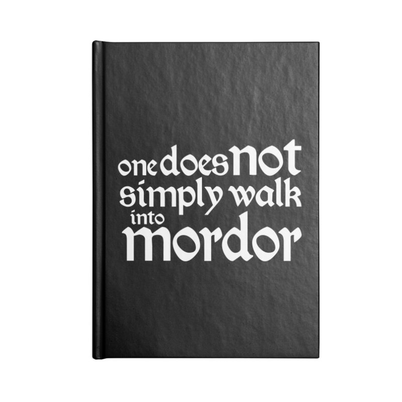 One does not simply Accessories Blank Journal Notebook by Synner Design