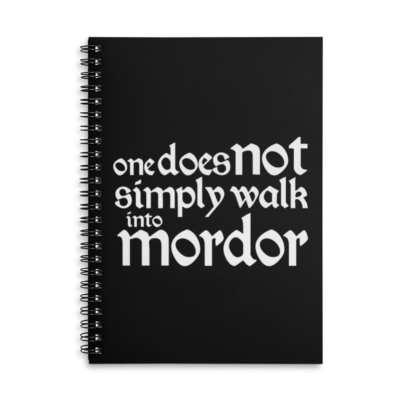 One does not simply Accessories Lined Spiral Notebook by Synner Design