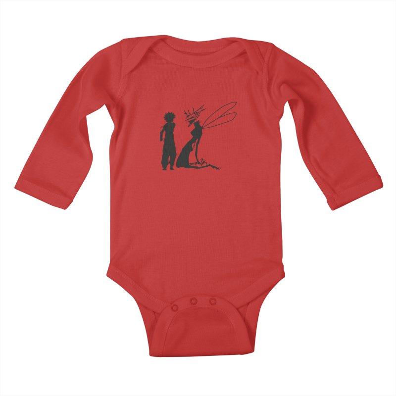 Killua kills Kids Baby Longsleeve Bodysuit by Synner Design