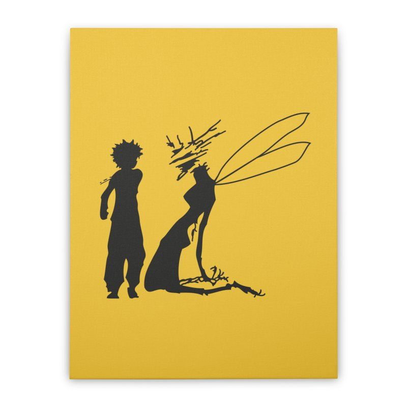 Killua kills Home Stretched Canvas by Synner Design