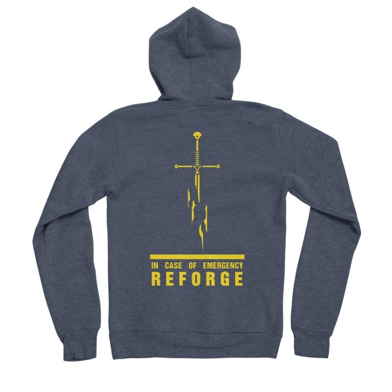 Narsil the sword Men's Sponge Fleece Zip-Up Hoody by Synner Design