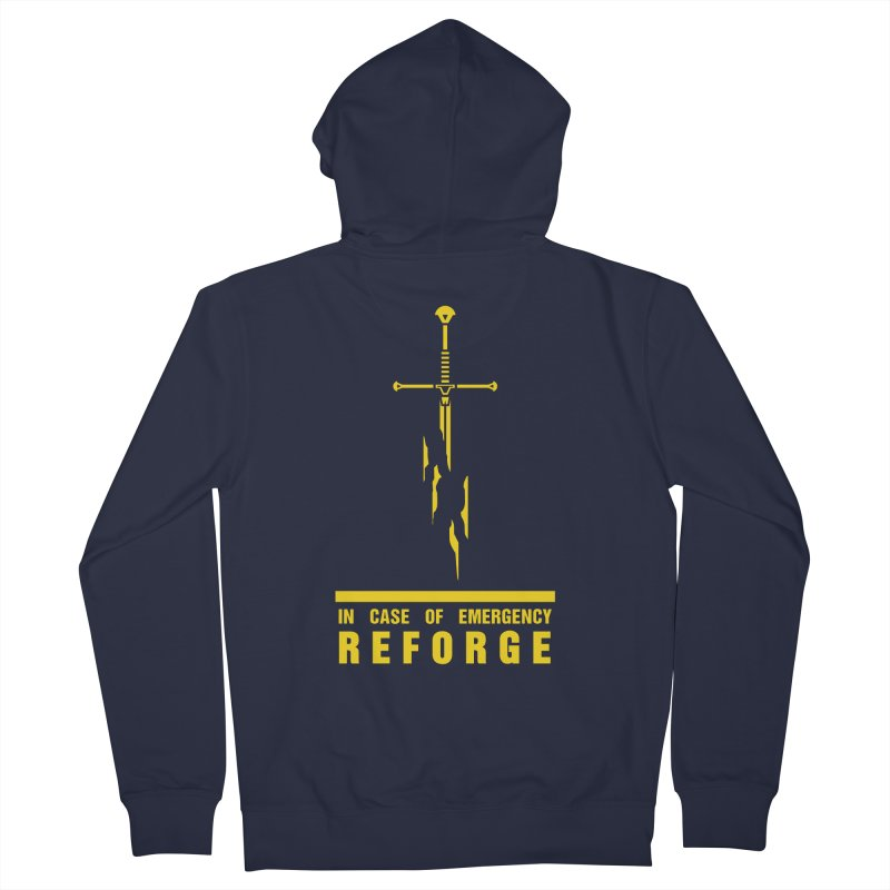 Narsil the sword Women's French Terry Zip-Up Hoody by Synner Design