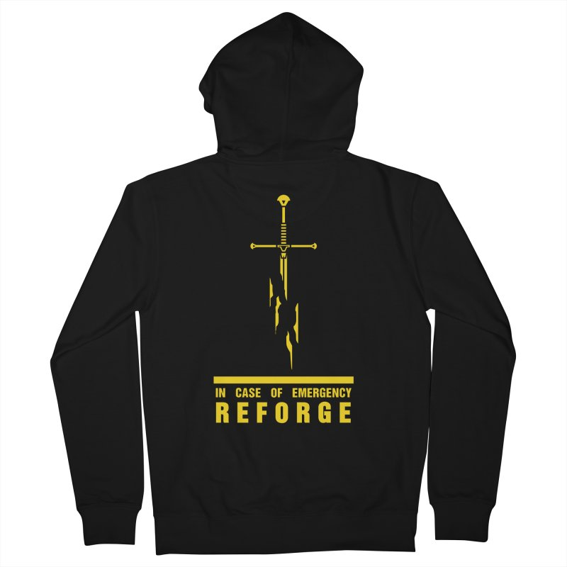 Narsil the sword Men's Zip-Up Hoody by Synner Design