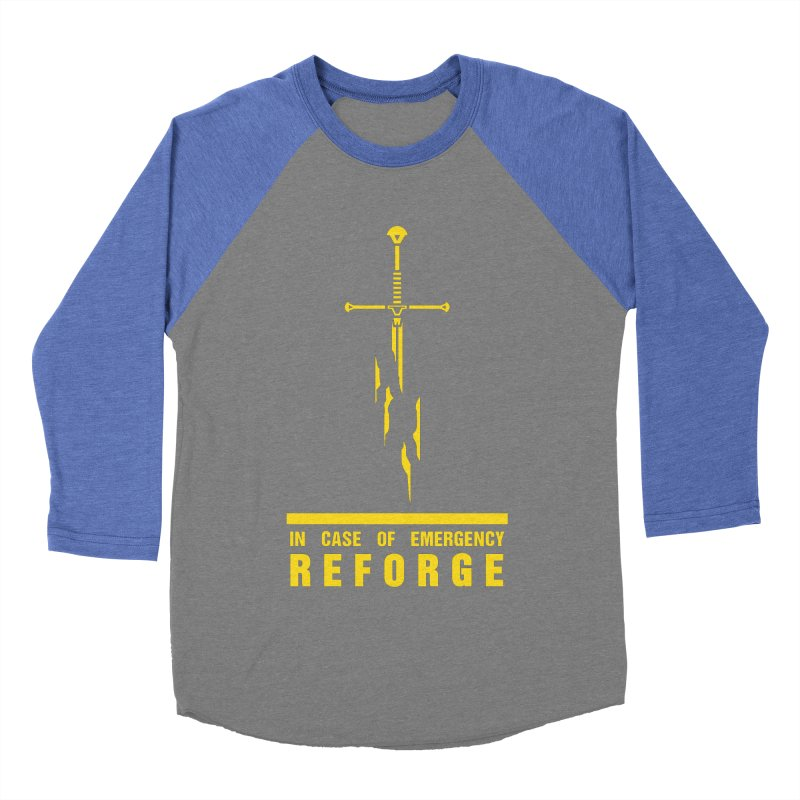 Narsil the sword Men's Baseball Triblend T-Shirt by Synner Design