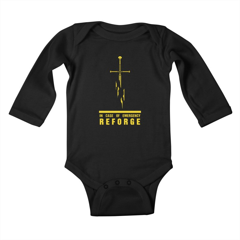 Narsil the sword Kids Baby Longsleeve Bodysuit by Synner Design