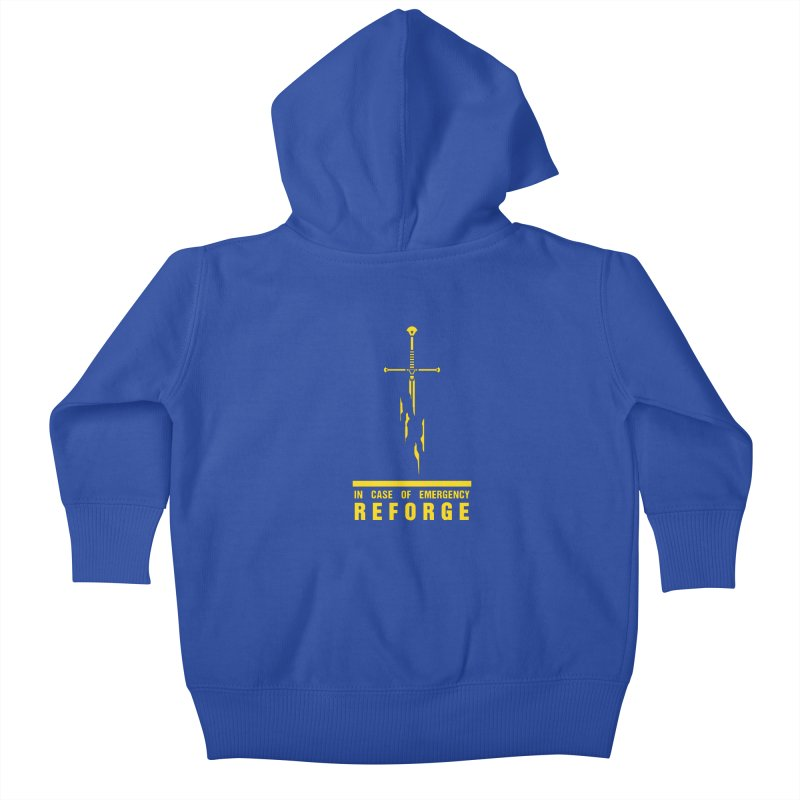 Narsil the sword Kids Baby Zip-Up Hoody by Synner Design