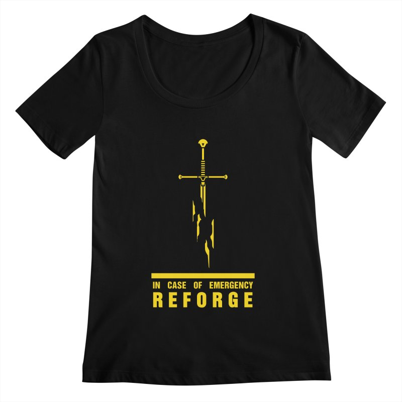 Narsil the sword Women's Scoopneck by Synner Design