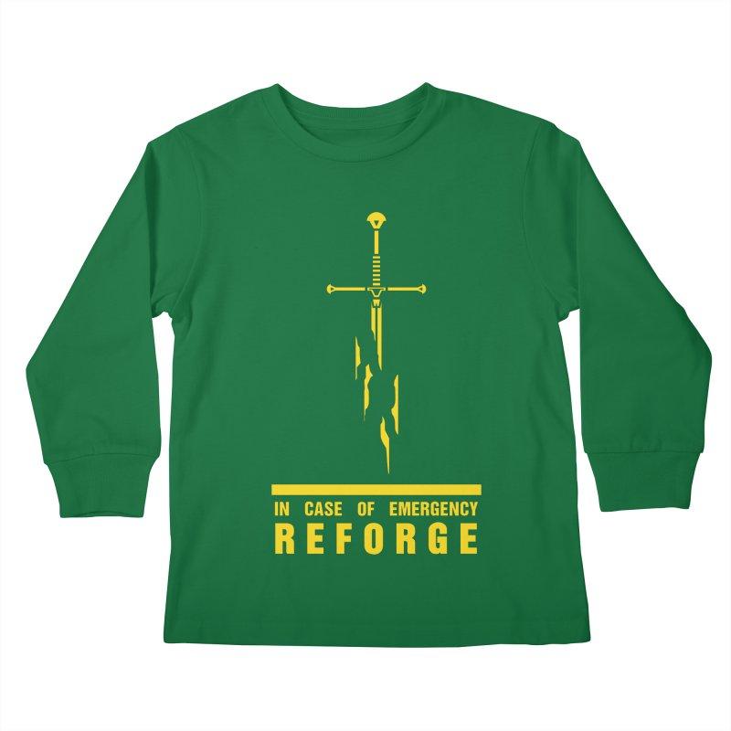 Narsil the sword Kids Longsleeve T-Shirt by Synner Design