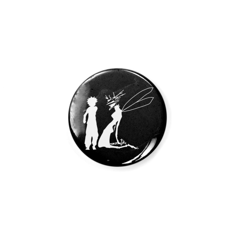 Killua white Accessories Button by Synner Design